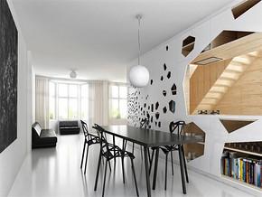 现代简约风格餐厅吊顶设计片