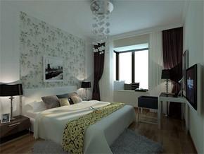 现代风格女孩的房间图