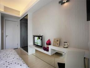现代风格卧室电视墙装修图片