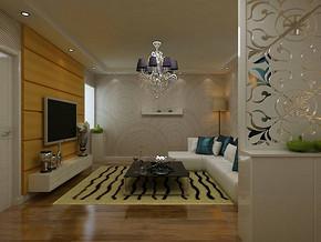 现代风格小户型客厅吊顶装修效果图