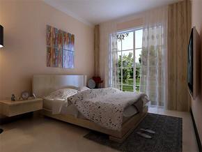 现代简约15平卧室装修效果图