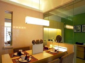 现代简约风格90平米餐厅装修效果图