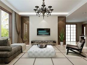 现代简约风格客厅最新家装图片