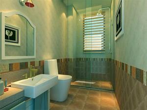 田园风格洗浴室装修效果图