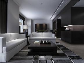现代风格小户型客厅摆设装修效果图