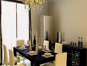 现代家庭饭厅装修效果图