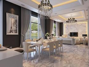 现代风格时尚餐厅装修效果图