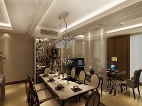 现代风格入户门对餐厅家装效果图