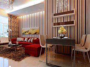 现代风格家装餐厅背景墙效果图