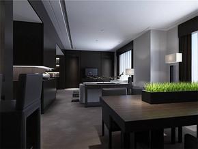 现代风格客厅和餐厅在一起装修效果图