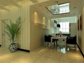 现代风格餐厅隔断门设计效果图