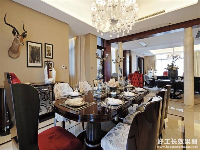现代风格家庭餐厅吊顶造型图片