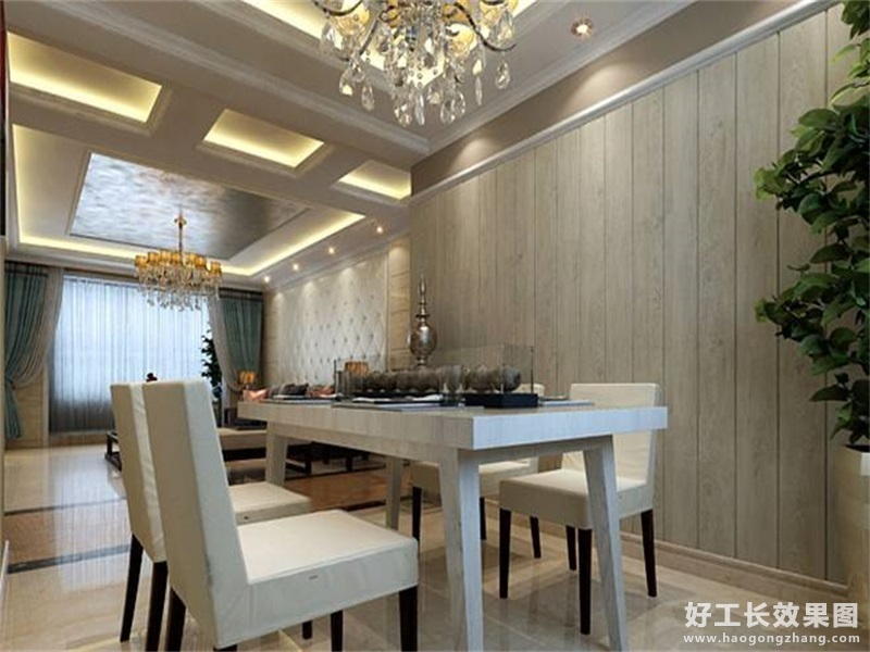 现代风格80平小户型餐厅装修图
