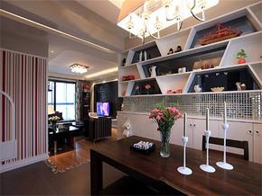 现代风格90平米餐厅装修效果图