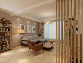 日式风格客厅隔断装修效果图
