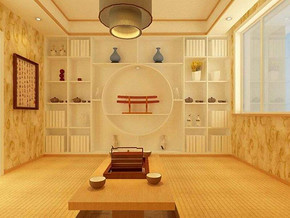 日式风格书房榻榻米装修效果图