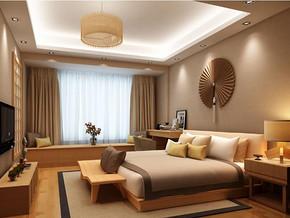日式风格卧室飘窗装修效果图