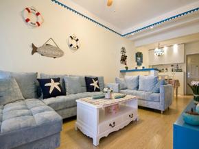 一室现代风格客厅装修效果图