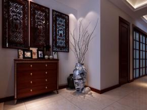 中式客厅玄关装修效果图