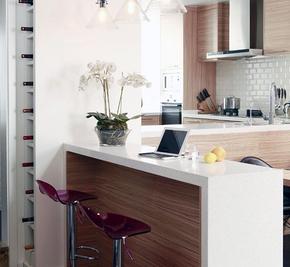 小户型多功能厨房吧台装修效果图