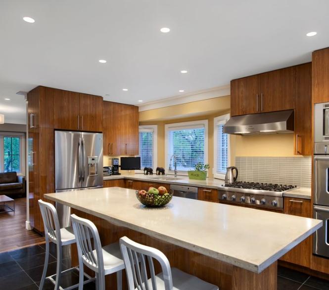 現代簡約開放式廚房櫥柜裝修效果圖