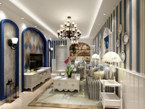 小户型地中海风格客厅效果图