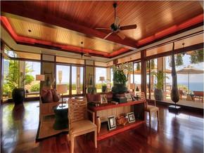 现代风格海景别墅客厅装修图片