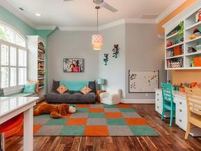儿童房兼书房装修效果图