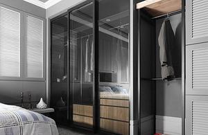 卧室衣柜玻璃门装修效果图