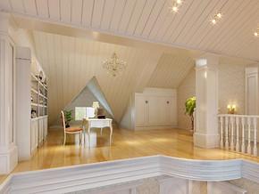 欧式风格阁楼书房装修效果图
