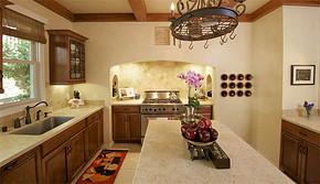 欧式复古风格厨房装修效果图