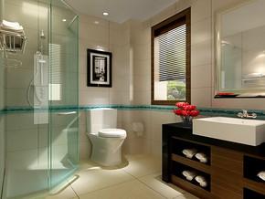 卫生间玻璃门效果图