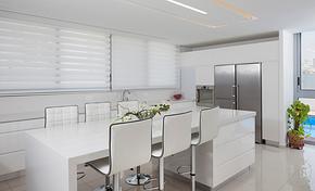 现代风格纯白吧台装修效果图