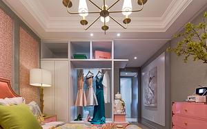 卧室开放式定制衣柜装修效果图