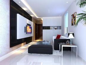 两室一厅现代风格装修效果图
