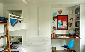 现代简约儿童房定制衣柜装修效果图