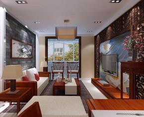 中式小户型客厅装修效果图