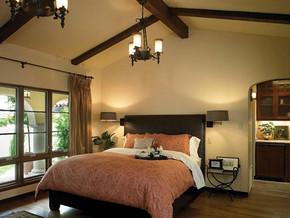 欧式古典风格卧室吊顶吊灯装修效果图