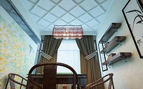 新中式娱乐室吊顶效果图
