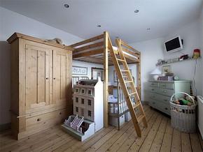 日式儿童房卧室装修效果图