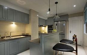 混搭风格厨房吧台装修效果图
