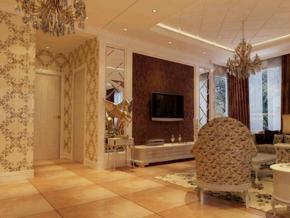 别墅奢华欧式风格客厅玄关效果图