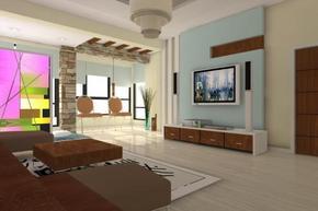 三室一厅简约装修效果图