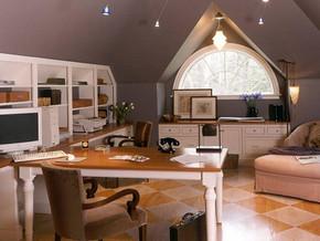 欧式风格书房装修设计效果图