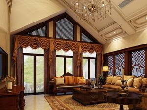 美式别墅宽敞客厅装修