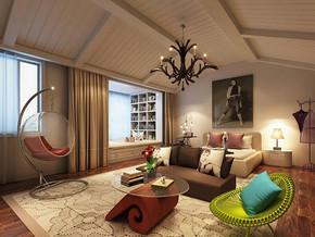 欧式风格卧室飘窗装修效果图