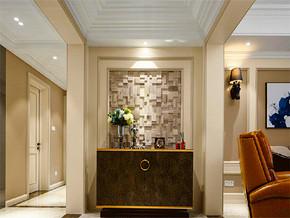 140平美式风格三居室玄关柜图片