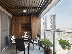 138平美式四居室阳台设计图