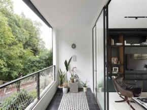 自然清新简约风格休闲阳台装修实景图