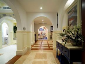 气质田园风格别墅玄关装修设计